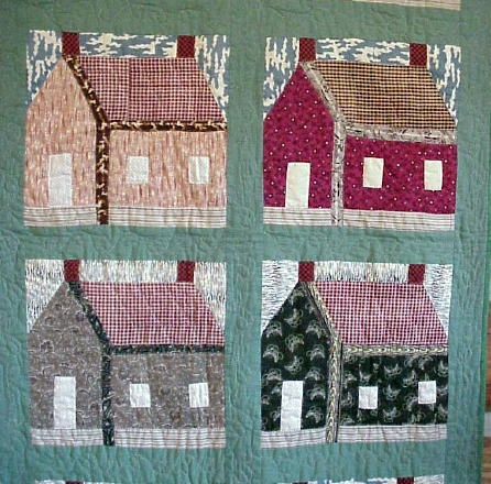 Schoolhouse quilt, seen at Log Cabin Antiques