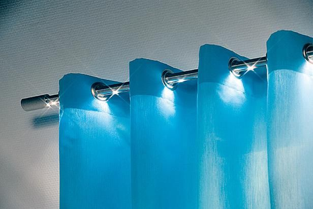 LED curtain rod, I love it!