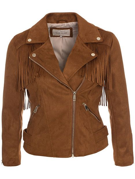 Fringe Belt Biker Jacket