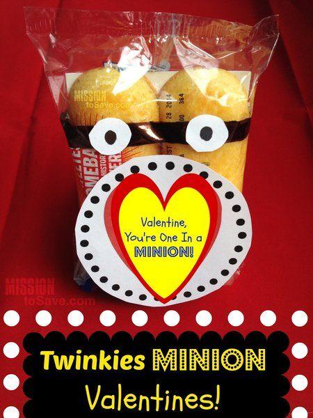 twinkies minion valentines