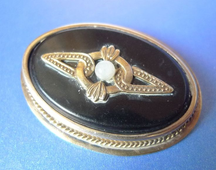 Vintage Russian USSR Soviet Old jewelry Gold Plated Silver 875 BROOCH Pin marked #LYU