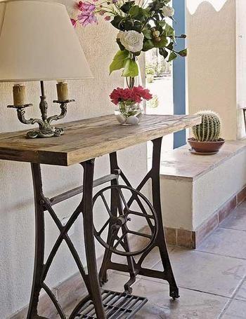 estancia de tu casa con una antigua máquina de coser! | Decoración ...
