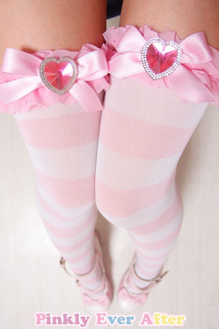 Powerful Pink Crystal Over-Knee Socks from Pinkly Ever After on Storenvy
