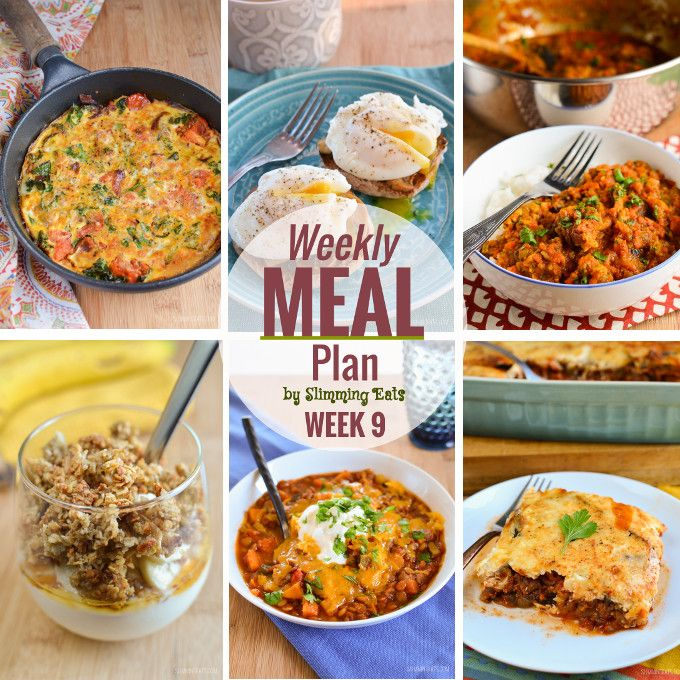 Slimming Eats Weekly Meal Plan – Week 9
