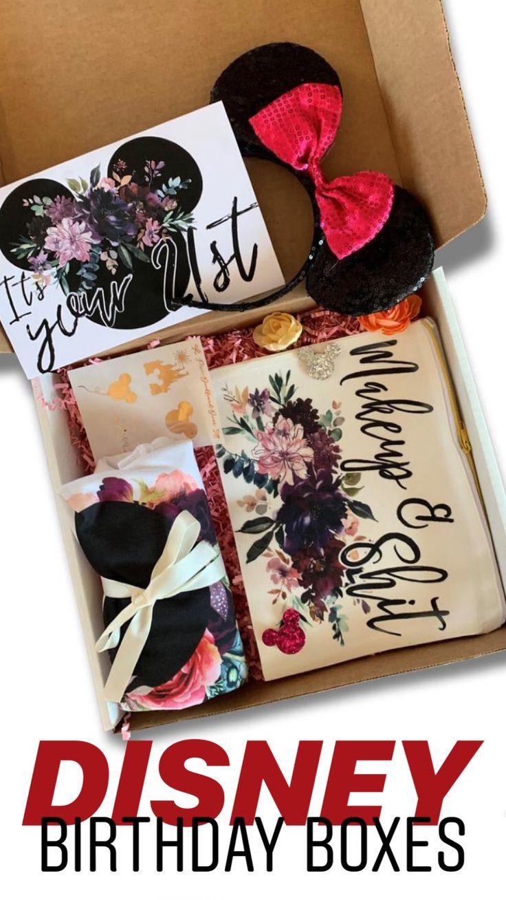 21st birthday gift, 21st birthday gift box, disney lover
