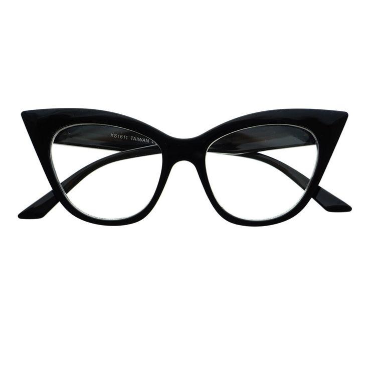 Retro Vintage Womens Fashion Clear Lens Cat Eye Glasses Frames C1150 - FREYRS - Beautifully designed, cheap sunglasses for men & women  - 1