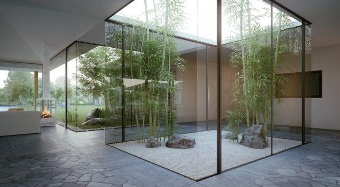 bambou pour le jardin japonais intérieur