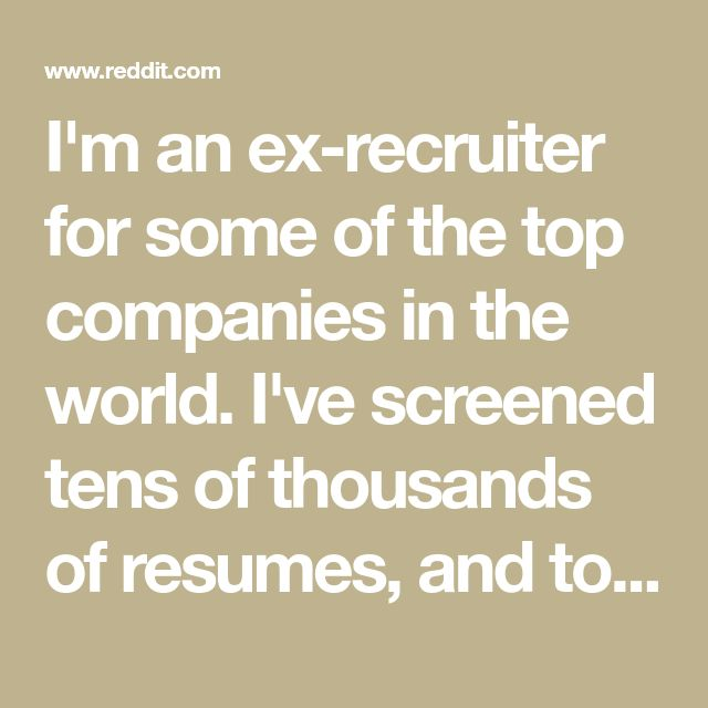 I'm an ex-recruiter for some of the top companies in the world. I've screened tens of thousands of resumes, and today I published my preferred resume format, free to download as a Word doc, along with some general resume advice.