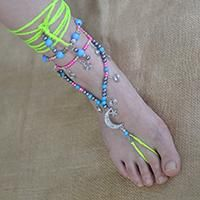 Free Charm Anklet Tutorial-How to Make a Candy Color Tibetan Anklet with Beads and Threads