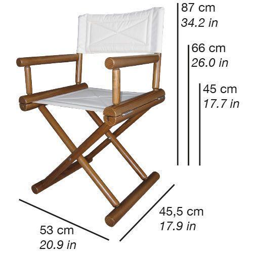 Resultado de imagen para sillas de director de cine y sus medidas cortinas pinterest - Medidas silla ...