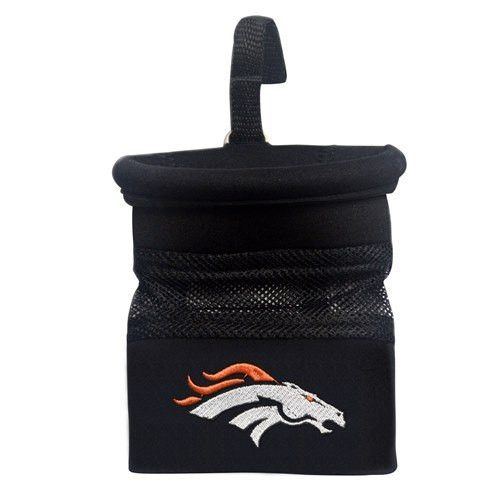 Show your team pride and keep your important items at arm's length while diving with an officially licensed Denver Broncos Car Caddy by Fanmats. These Car Caddies hold your cell phones, sunglasses, pe