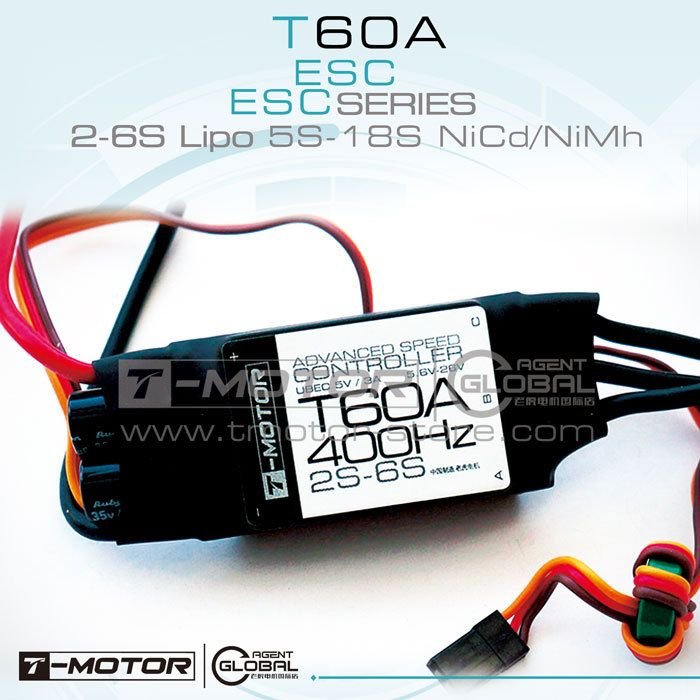 Tiger motor (T-motor)  60A (2-6S) Brushless Motor Electronic Speed Controller for Multicopter