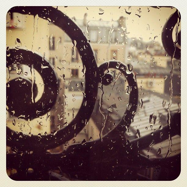 Rainy Paris in Montmartre