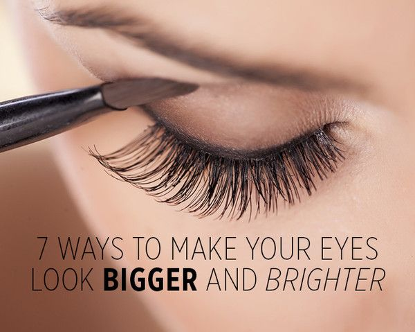 how to make eyes appear smaller
