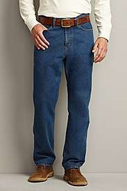 Traditional Fit Five-Pocket Jeans