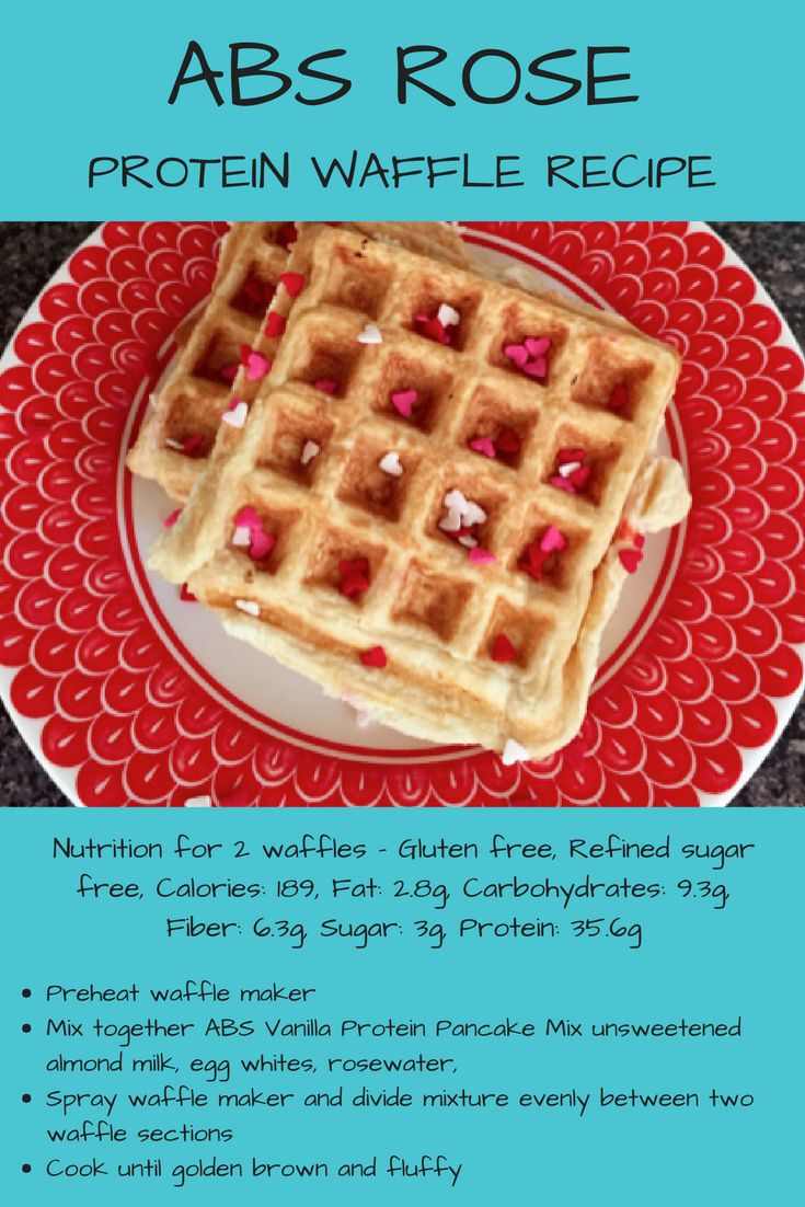 Check out this #rose #protein #waffle #recipe from ABS Protein Pancakes