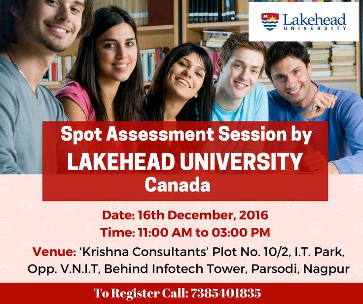 Spot Assessment Session by #Lakehead #University, Thunderbay, Ontario, #Canada on 16th December, 2016, @ Krishna Consultants #Nagpur.