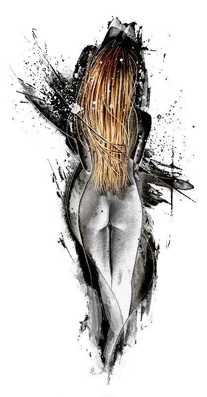 Frau von hinten, goldene Haare