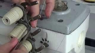 como colocar linha na maquina de costura reta industrial aulas - YouTube