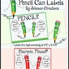 Use these cute pencil labels for two pencil containers in your classroom. One is for pencils and one is for pencils that need to be sharpened. When...