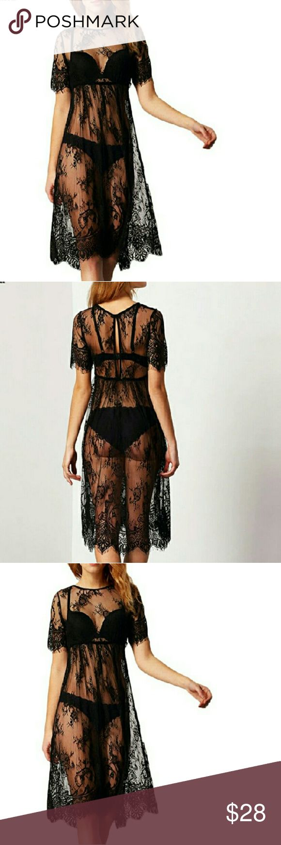 Summer Women Midi Dress/Coverup Beach Wear Sexy Lace dress. S and M size available.    L size COMING SOON❤️❤️       Please comment the size you want to be notified when in stock to reserve 'one' for yourself!  Dresses Midi