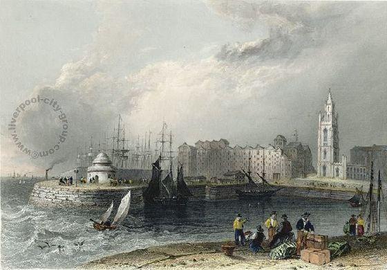 Liverpool, history, liverpool-history-l2-chapel-street-st-nicholas-and-docks-1842