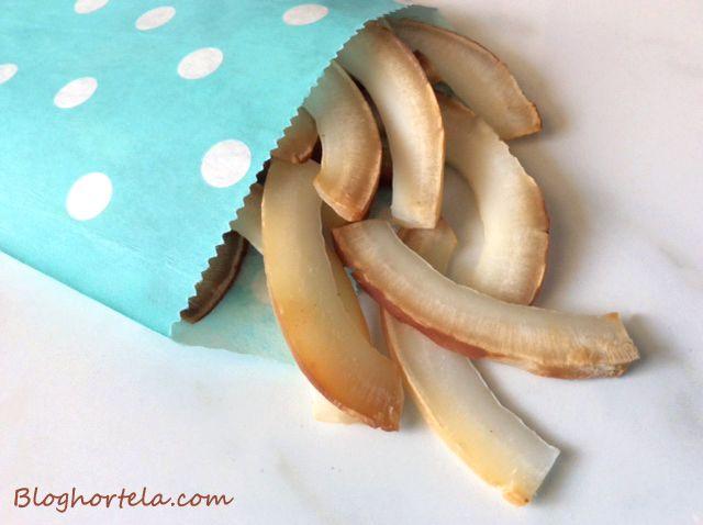 Chips de coco: práticos e saudáveis