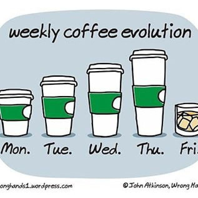 #coffeeislife #coffeeevolution (no Friday drinks for me though  maybe a beer or a fruity drink nowadays)