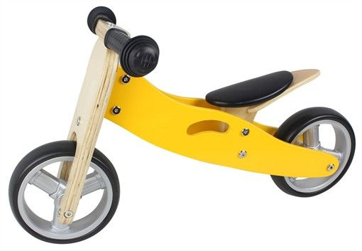 2 in 1 Yellow Balance Bike