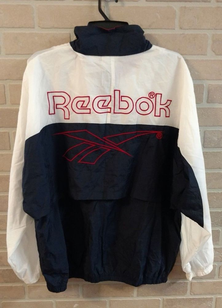 Check out this awesome vintage Reebok windbreaker!  #reebok #oldschool #retro #windbreaker #ebay #starrbarry