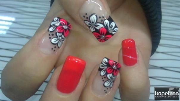 Maybe with flowers on just one nail?