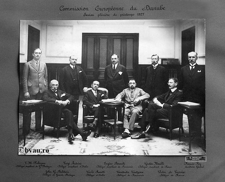 """Comisia Europeană a Dunării, 1927, Galati, Romania. Imagine din colecţiile Bibliotecii Judeţene """"V.A. Urechia"""" Galaţi."""