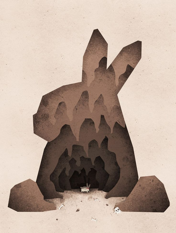 """A Monty Python Inspired Illustration of the Rabbit of Caerbannog. """"that's no ordinary rabbit""""  Buy as a pint, t-shirt … or on some product: http://www.boney.design/portfolio/thats-no-ordinary-rabbit/"""