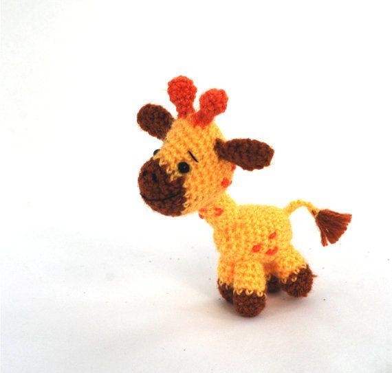 amigurumi giraffe, crochet giraffe, miniature giraffe toy, tiny giraffe doll, #stuffedgiraffe, stuffed animal, collectible animal doll, #handmadegift by crochAndi   $21.66