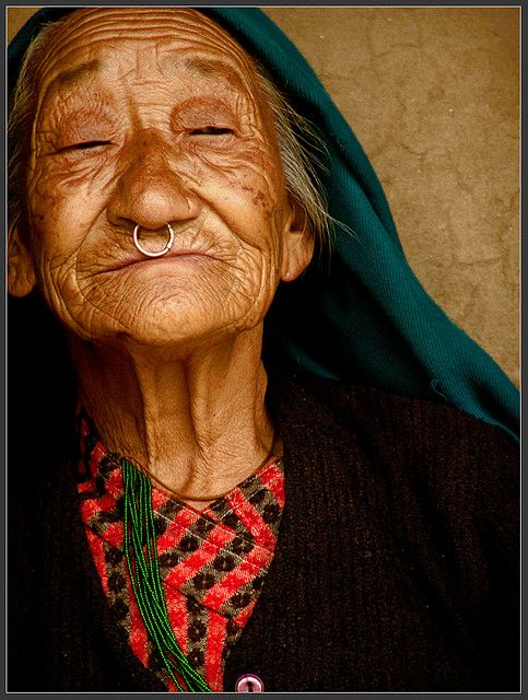beautiful old lady from Darap village, India, 2007