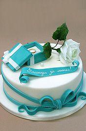 """Торт """"Выходи за меня"""" - торты с предложением руки и сердца"""