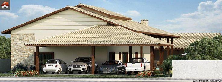 Planta de Casa - 4 Quartos - 213.53m² - Monte Sua Casa