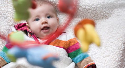 Learn which toys your new baby will enjoy most, from soft books with high-contrast patterns to sock and wrist rattles.