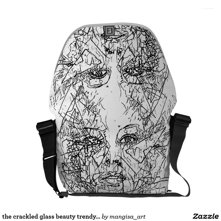 the crackled glass beauty trendy bag