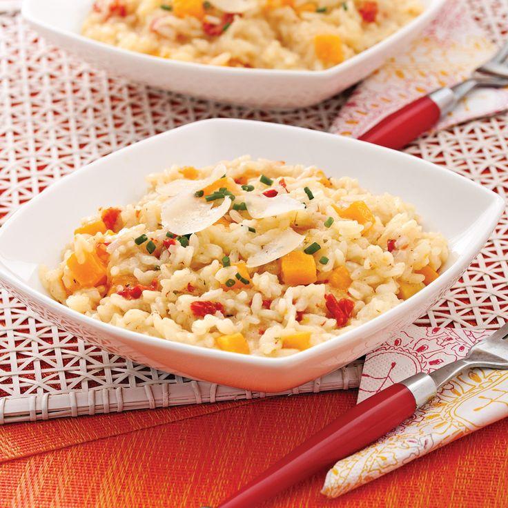 Risotto végétarien à la courge Butternut - Soupers de semaine - Recettes 5-15 - Recettes express 5/15 - Pratico Pratique