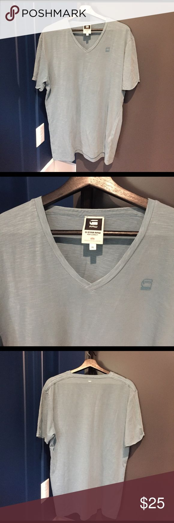 G Star Raw men's tshirt G Star Raw men's tshirt - Raw Correct - Size XL - color: light blue - is in great condition G Star Raw Shirts Tees - Short Sleeve