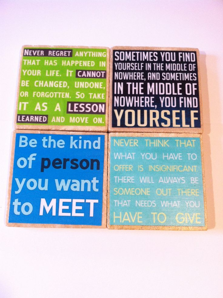 Inspirational / Life Quotes beverage coasters by 5 Creations Handmade Decor