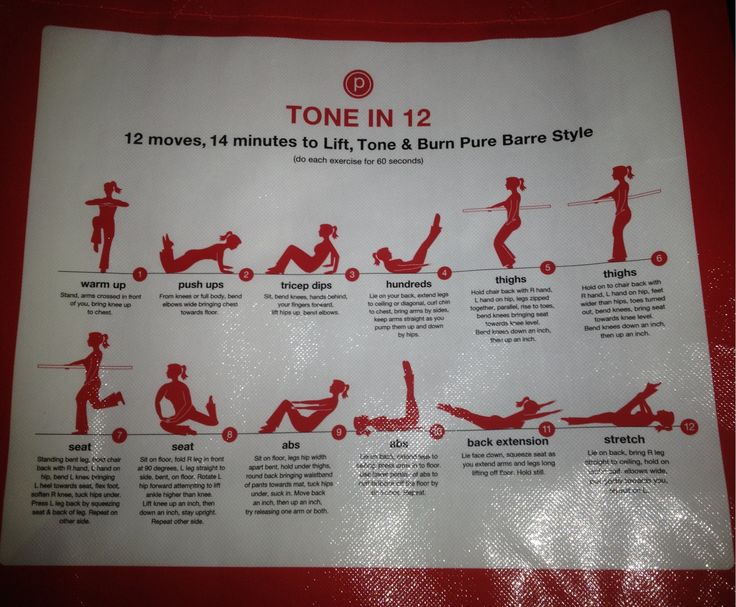Pure Barre: mini-workout. Click for technique tips!