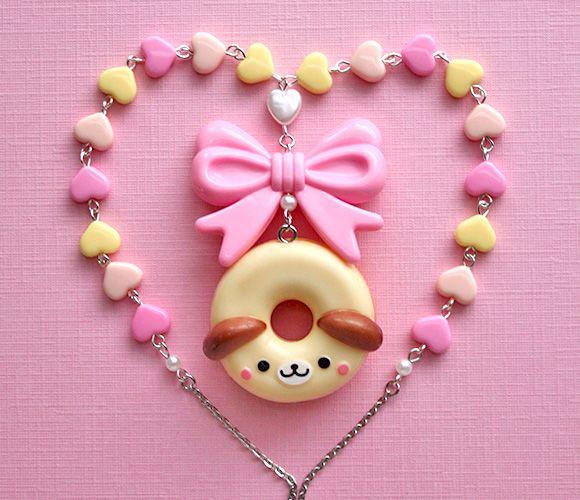 Kawaii Jewelry Shop - Donut Dog Necklace