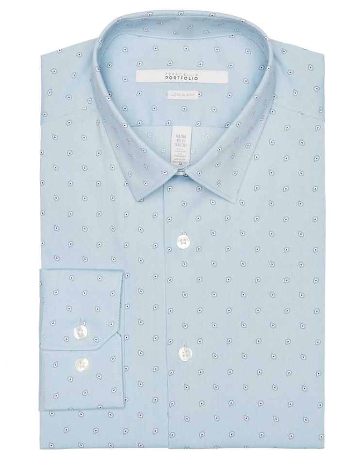#FashionVault #perry ellis #Men #Tops - Check this : Perry Ellis Ultra Slim Scattered Paisley Dress Shirt for $34.99 USD