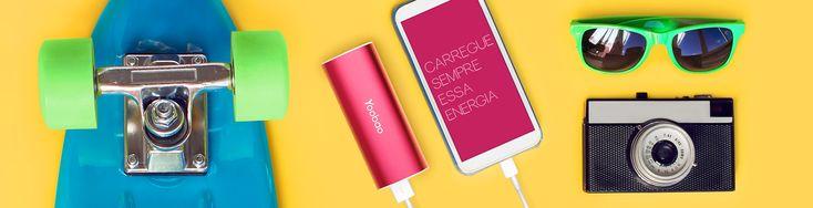 Compre seu carregador portátil Yoobao para dispositivos móveis a partir de R$ 169,00.