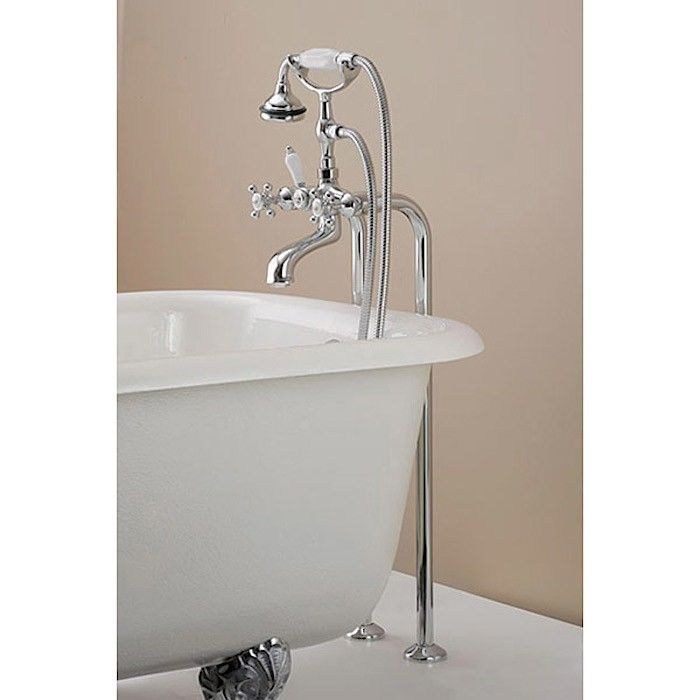 Freestanding Claw Foot Tub Hand Shower Faucet: Remodelista