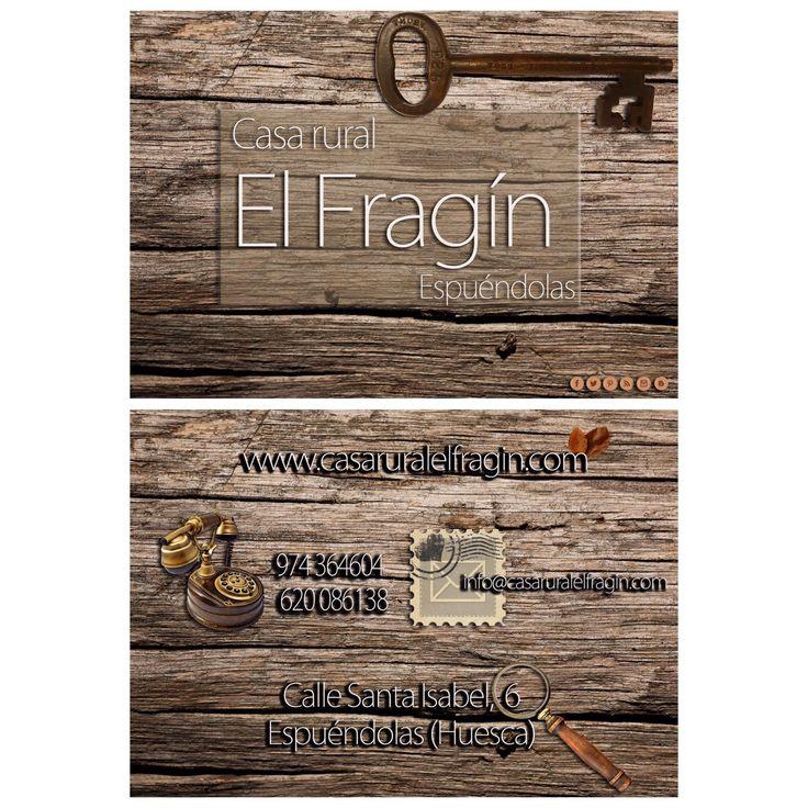 Tarjeta de visita de Casa rural El Fragín