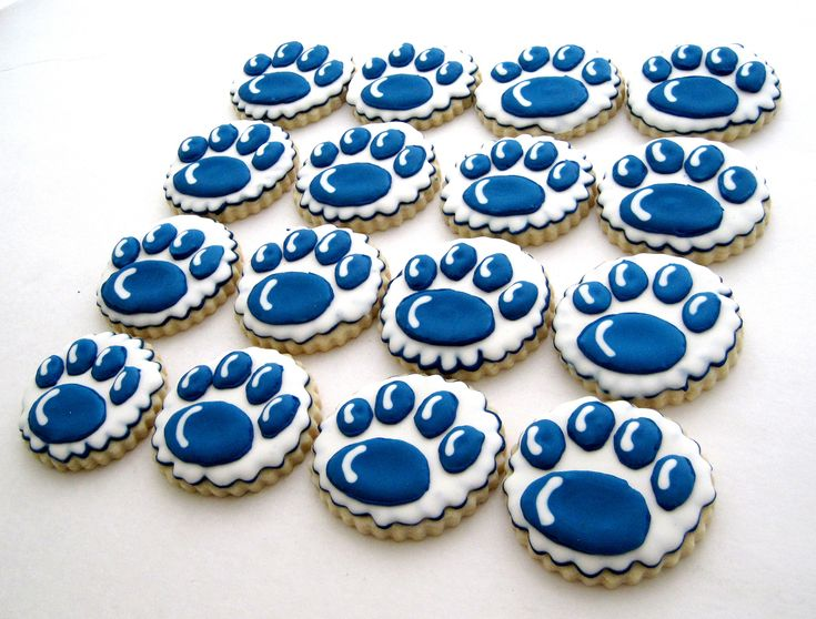 Penn State Nittany lion paw cookies | Flickr - Photo Sharing!
