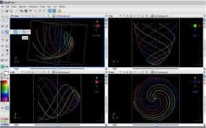 """In Beyond, there is a brand new frame editor code-named """"Mega Draw"""", which is a full object- oriented drawing program supporting multiple layers and a wide variety of drawing tools, including splines.   Pangolin laser shows software"""
